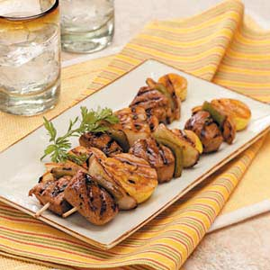 Pork 'n' Veggie Kabobs Recipe