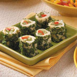 Red Pepper Green Bean Roll-Ups Recipe