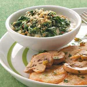 Creamy Parmesan Spinach Recipe