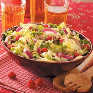 Herbed Raspberry-Hazelnut Salad Recipe