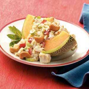 Cantaloupe Chicken-Orzo Salad Recipe