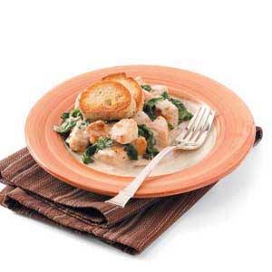 Garlic-Cream Chicken Florentine Recipe
