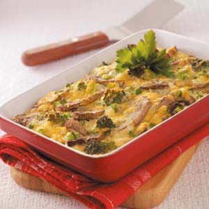 Cheesy Vegetable Frittata Recipe