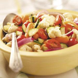 Garden Fresh Summer Vegetable Salad Recipe
