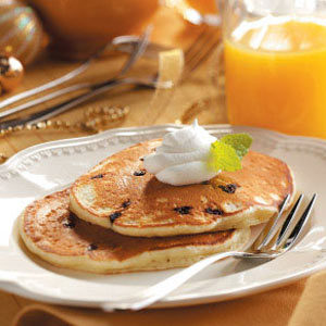 Pancakes with Mini Chocolate Chips Recipe