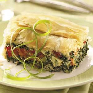 Spinach-Tomato Phyllo Bake Recipe