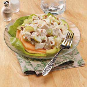 Fruity Chicken Salad with Avocado and Cantaloupe Recipe