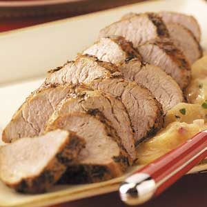 Pork with Apple-Cream Sauce Recipe