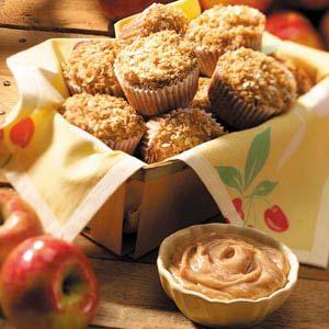 Cinnamon Apple Muffins with Cinnamon-Honey Butter Recipe