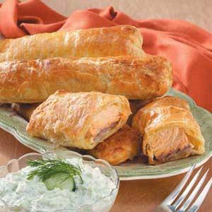 Puff Pastry Salmon Bundles Recipe