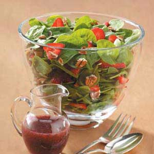 Strawberry Spinach Salad with Raspberry Poppy Seed Dressing Recipe
