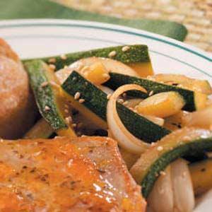 Teriyaki Zucchini and Onion Recipe