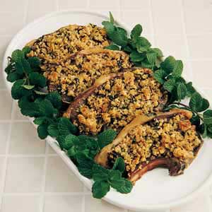 Lamb Chops with Mint Stuffing Recipe