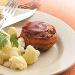 Quick Bacon-Wrapped Beef Patties Recipe