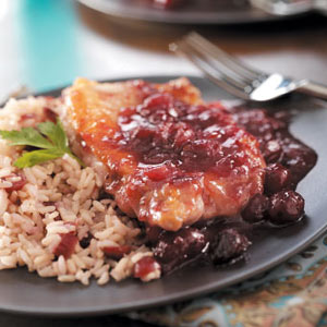 Cranberry Pork Chops with Rice Recipe