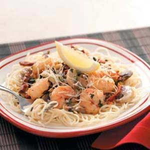 Lemony Shrimp with Pasta Recipe