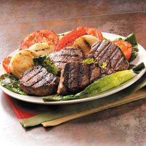 Beef Filets with Grilled Vegetables Recipe
