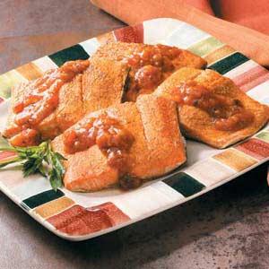 Salmon with Sweet Salsa Recipe