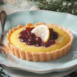 Cranberry-Topped Lemon Tarts Recipe