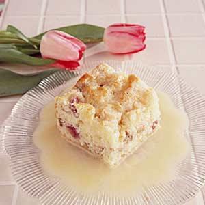 Rhubarb Pudding Cake Recipe