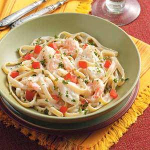 Seafood Fettuccine Alfredo Recipe