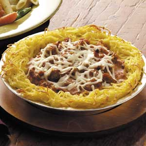 Mama's Spaghetti Pie Recipe
