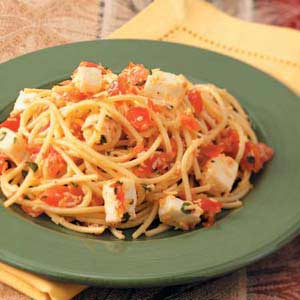 Spaghetti with Checca Sauce Recipe
