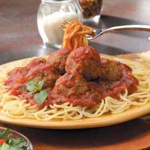 Meatballs with Spaghetti Sauce