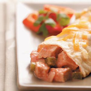 Green Pepper and Onion Turkey Enchiladas Recipe