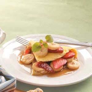 Strawberry Banana Omelet Recipe