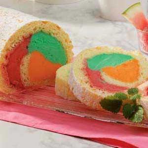 Rainbow Cake Roll Recipe