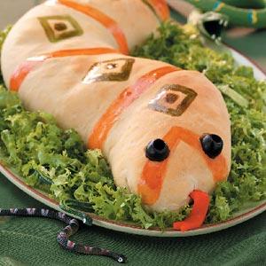 Sausage-Stuffed Slithery  Snakes Recipe