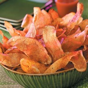 Fiery Potato Chips Recipe