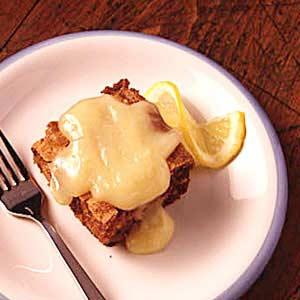 Apple Cake with Lemon Sauce Recipe