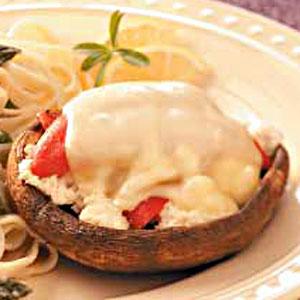 Crab-Stuffed Portobellos Recipe