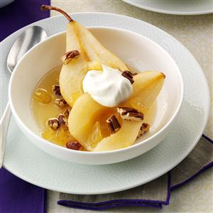 Ginger-Poached Pears Recipe