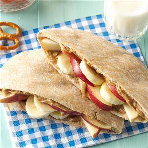 Fruity Peanut Butter Pitas Recipe