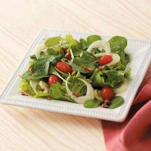 Arugula Salad with Sugared Pecans Recipe