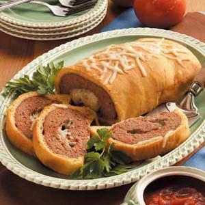 Mozzarella Meat Loaf Wellington Recipe