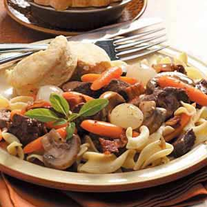 Beef and Pasta Burgandy Recipe