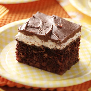 Frosted Chocolate Marshmallow Cake Recipe