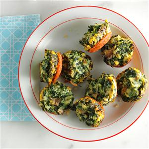 Mini Spinach Frittatas