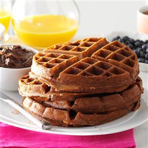 Pecan Chocolate Waffles Recipe