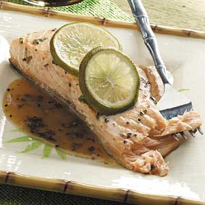Lime Salmon with Soy Sauce Recipe