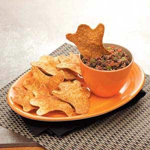 """Boo""rrific Black Bean Dip with Chips Recipe"