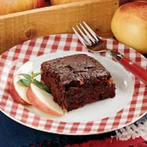Apple Cocoa Snack Cake Recipe