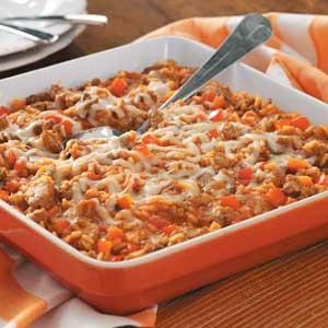 Italian Sausage Rice Casserole Recipe