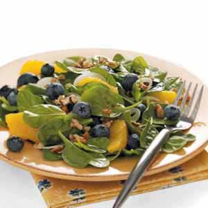Spinach Salad with Curry Dressing Recipe