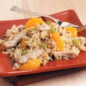 Mandarin Pork and Wild Rice Recipe