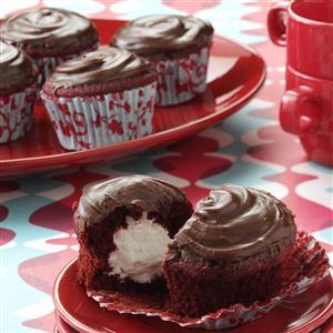 Surprise Red Cupcakes Recipe
